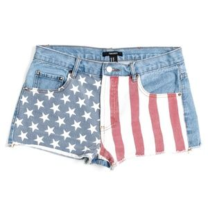 Forever 21 American Flag Cut Offs